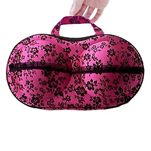 Meily(TM) New Floral Protect Bra Underwear Lingerie Case Travel Bag Storage Box