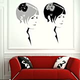 Pair of Women Girls Wall Transfer / Big Wall Art Decor / Girls Wall Sticker WO1