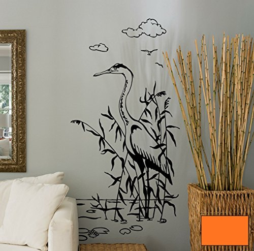 Graz-design-sticker-mural-dcoratif-motif-hron-grue-grues-hron-cendr-m1495-choix-de-couleur