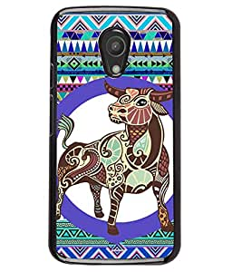 PrintVisa Metal Printed Taurus Designer Back Case Cover for Mototola Moto G2 (2nd Gen)-D4896