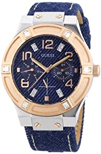 Guess Damen-Armbanduhr Leder Ladies Sport Analog Quarz W0289L1