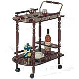 Coaster Serving Cart-Cherry