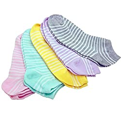 Arck 5-Pack Women's Low Cut Fashion Liner No Show Socks,Women Athletic Socks