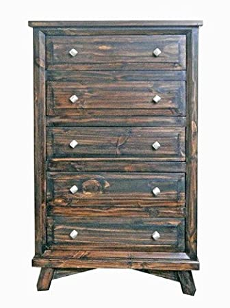 Rustic San Miguel Chest of Drawers With Legs Modern Solid Wood