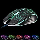 VAlinks Ergonomic LED Wired Gaming Mouse 6 Buttons With Different Soothing LED Colors. 10 Million Keystroke Life... - B01C3Q1BNI