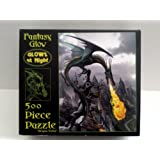 "Fantasy Glow 500 Piece ""Dragon Valley"" puzzle (GLOWS AT NIGHT)"