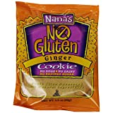 Nana's No Gluten Cookie, Ginger, 3.5-Ounce Packages (Pack of 12) ~ Nana's