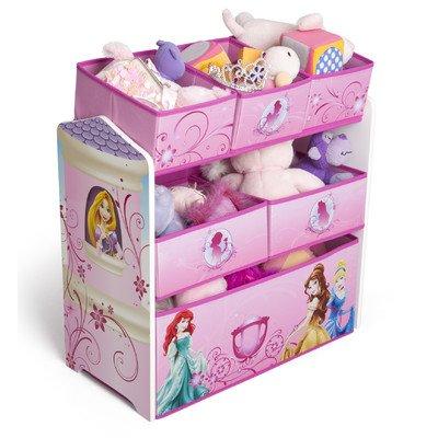 Disney Princess Multi-Bin Toy Organizer, Multicolor (Princess Organizer compare prices)