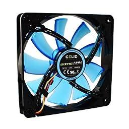 GeLid FN-FW12BPL-18 120mm Blue LED PC Computer Case Fan w/ 4 pin power - NEW
