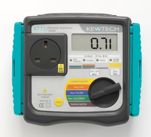 Kewtech KT71 Manual Portable Appliance Tester with Automatic Test Sequences