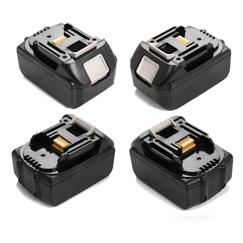 Powerextra™ 4 Pack Replacement 18V 3.0Ah Li-Ion Cordless Drill Rechargeable Battery For Makita Bl1830 Bl1815 194205-3 194309-1 Lxt400