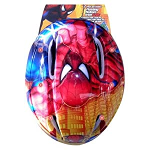 Spiderman Toddler Helmet with Flashing LED Lights - Red by Marvel