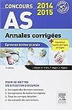 Concours AS Annales corrigées Épreuves écrites et orale 2014-2015: NP