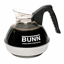 Bunn 6100 Easy Pour Commercial 12-Cup Regular Coffee Decanter, Black 1 ea(Pack of 1)