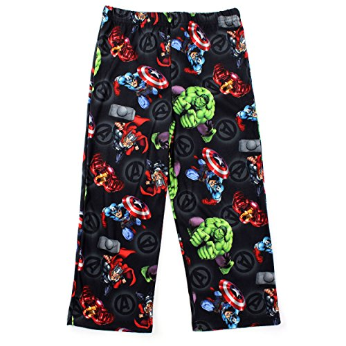 Avengers Boys Black Pajama Pants