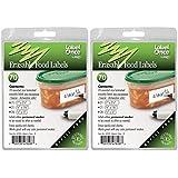 Jokari 70 Count Label Once Erasable Food Labels Refill Packs, Multicolor, 2-Pack