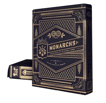 Theory11 Monarch Playing Cards (Black, 3.5 x 2.5-Inch) & Bicycle Carte da gioco