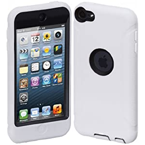 Cimo ArmorGuard Series Case for Apple iPod Touch 5 with Built-in Screen Protector - White
