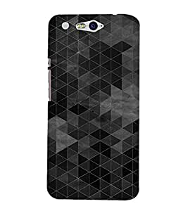 Triangle Cut Pattern 3D Hard Polycarbonate Designer Back Case Cover for In Focus M812 :: InFocus M 812