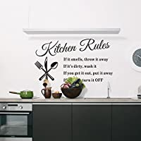 "Hot Popular ""Kitchen Rules"" English Waterproof Wall Sticker from Tianhong"
