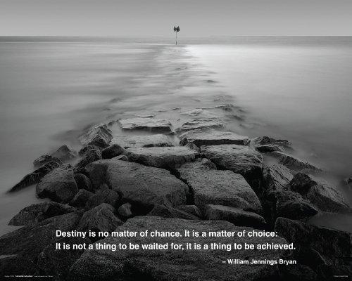 Destiny Rocky Path Ocean Quote Inspirational Motivational Poster Print