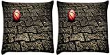 Snoogg Basketball On Street Pack Of 2 Digitally Printed Cushion Cover Pillows 12 X 12 Inch