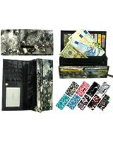 """my!WALLET """"Lucia"""" - Lange Damengeldbörse mit 9 Kartenfächern - verschiedene Farben"""