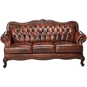 Coaster Victoria Traditional Tri-Tone Classic Rolled Arm Sofa