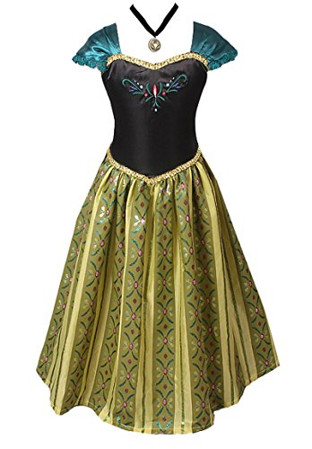 American Vogue ADULT WOMEN FROZEN ANNA Elsa Coronation Dress Costume