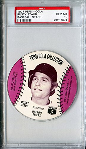 1977-msa-pepsi-cola-glove-sports-discs-rusty-staub-rare-psa-gem-mint-10-sp-detroit-tigers-new-york-m