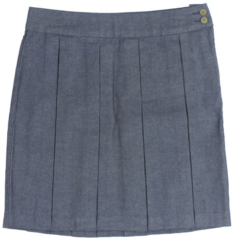Tommy Hilfiger Women's Pleated Denim Skirt, 10, Rinse Wash