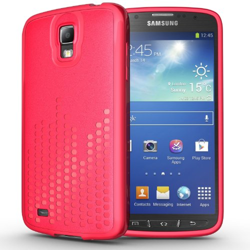 Tudia Ultra Slim Melody Series Tpu Protective Case For Samsung Galaxy S4 Active I9295 (Pink)