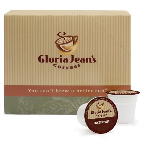 Gloria Jean's Coffees, Hazelnut Coffee, K-Cup Portion Pack for Keurig K-Cup Brewers, 24-Count (Pack of 2)