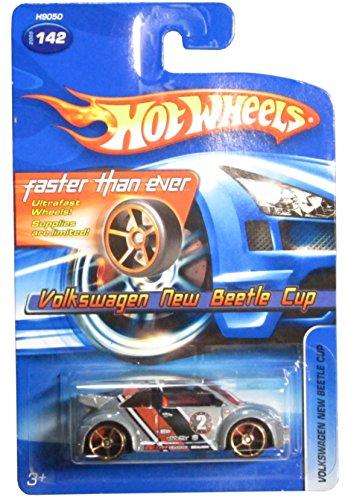 2005 Hot Wheels Volkswagen New Beetle Cup Grey FTE Wheel Variant #142 - 1