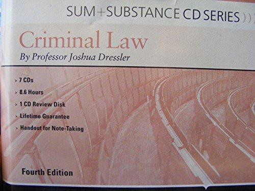 Sum & Substance on Criminal Law