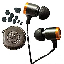 Signature Acoustics O16- Live Metallic Earphone with Leather Case