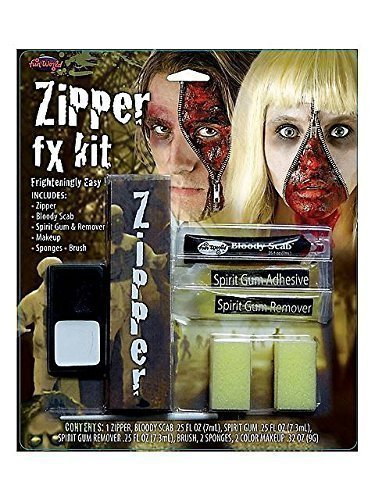 [Zipper FX Makeup Kit (Standard) by Fun World] (Zipper Fx Kit)