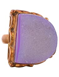 GJ Creation Gold Plated Druzy Studded Ring For Women - B00N8Q52IS