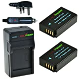 ChiliPower Nikon EN-EL20, ENEL20 1200mAh Battery 2-Pack + Charger (UK Plug) for Nikon 1 J1, Nikon 1 J2, Nikon 1 J3, Nikon 1 AW1, Nikon 1 S1, Blackmagic Pocket Cinema Camera, Nikon Coolpix A