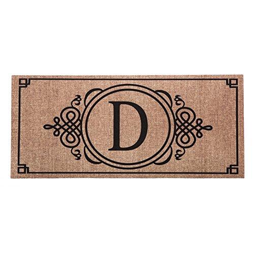 Sassafras Decorative Insert Mat, 10x22 Inches, Burlap Monogram D (Monogram Letter D Mat compare prices)