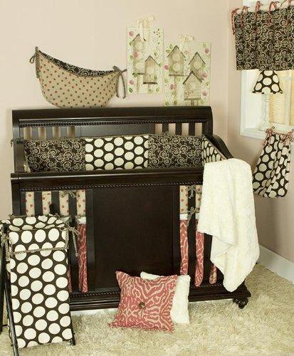 Cotton Tale Designs Bedding Set, Raspberry Dot, 7 Piece