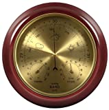 Lilys Home Cherry Finish Dial Traditional Barometer with Temperature and Humidity