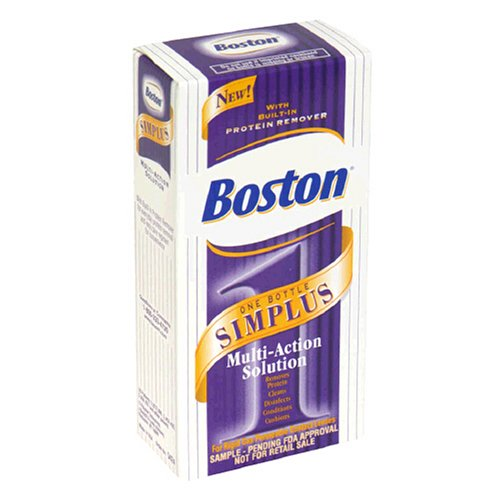 Boston One Bottles Simplus Multi-Action Solution for Rigid Gas Permeable Contact Lenses, 3.5-Ounce Bottles (Pack of 2)