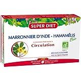 SuperDiet Marronnier d'Inde Hamamélis Bio Circulation tonifiée 20 ampoules de 15ml soit 300ml