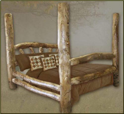King Size Aspen Poster Log Bed