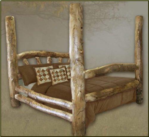 Queen Size Aspen Poster Log Bed