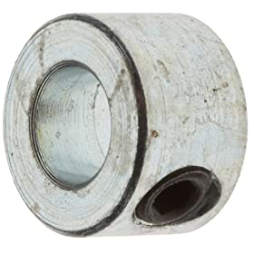 "Climax Metal C-025 Shaft Collar, Steel, Set Screw Style , One Piece , 1/4"" Bore, 1/2"" OD, 5/16"" Wide, With 10-32 Set Screw"
