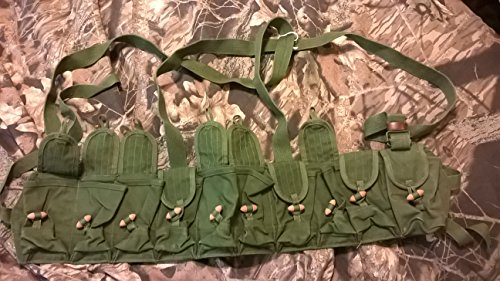 Chinese Military Genuine Surplus SKS Rifle 7.62x39 10 Pocket Chest Pouch Rig Bandoleer Bandolier For Cartridge Ammo Ammunition & Stripper Clips