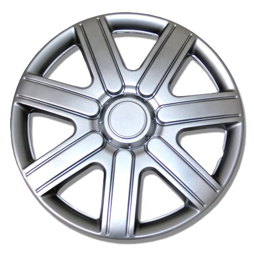 TuningPros WSC-221S14 Hubcaps Wheel Skin Cover 14-Inches Silver Set of 4 (2012 Toyota Yaris Hubcaps compare prices)