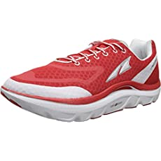 Altra Men's Paradigm Max Cushion Running Shoe,Fiery Red/White,8 M US